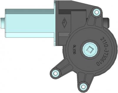 Моторедуктор стеклоподъемника передней правой двери 02.3730