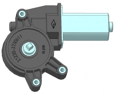 Моторедуктор стеклоподъемника передней левой двери 01.3730