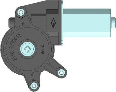Моторедуктор стеклоподъемника передней левой двери 03.3730